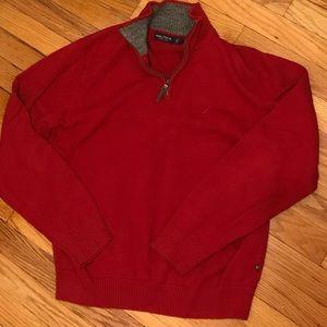 Nautica red sweater medium
